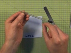 Accurate Folds in Paper and Card